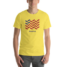 "Yellow / S America ""Barley"" Short-Sleeve Unisex T-Shirt by Design Express"
