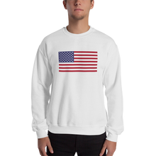 "White / S United States Flag ""Solo"" Sweatshirt by Design Express"