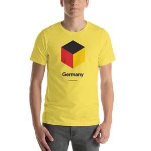 "Yellow / S Germany ""Cubist"" Unisex T-Shirt by Design Express"