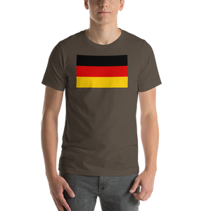 Army / S Germany Flag Short-Sleeve Unisex T-Shirt by Design Express