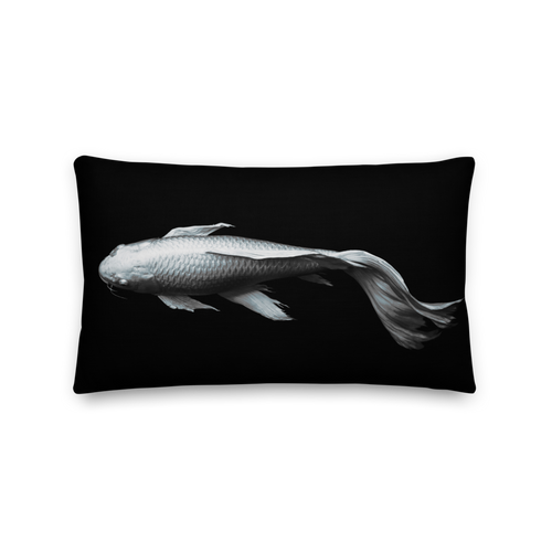 Default Title White Koi Fish Rectangle Premium Pillow by Design Express