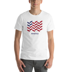 "White / S America ""Barley"" Short-Sleeve Unisex T-Shirt by Design Express"