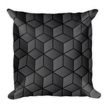 Diamonds Black Block Square Premium Pillow