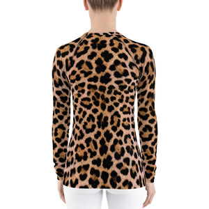 "Leopard ""All Over Animal"" Women's Rash Guard by Design Express"
