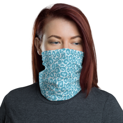 Default Title Teal Leopard Print Neck Gaiter Masks by Design Express