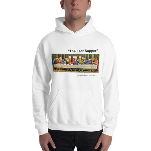 S The Last Supper Unisex White Hoodie by Design Express