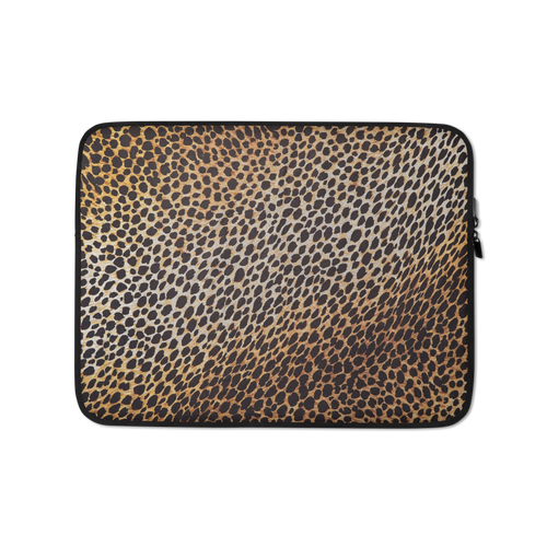 13 in Leopard Brown Pattern Laptop Sleeve by Design Express
