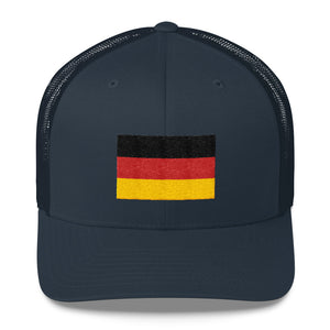 Navy Germany Flag Embroidered Trucker Cap by Design Express