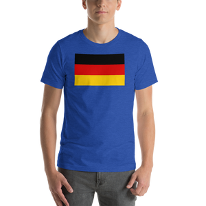 Heather True Royal / S Germany Flag Short-Sleeve Unisex T-Shirt by Design Express