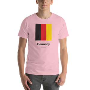 "Pink / S Germany ""Block"" Unisex T-Shirt by Design Express"