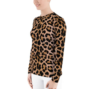 "Leopard ""All Over Animal"" 2 Women's Rash Guard by Design Express"