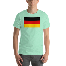 Heather Mint / S Germany Flag Short-Sleeve Unisex T-Shirt by Design Express