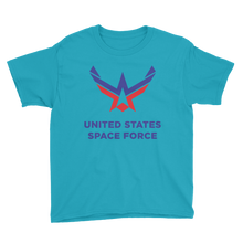 Caribbean Blue / XS United States Space Force Youth Short Sleeve T-Shirt by Design Express