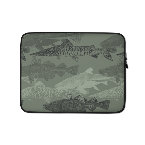 13 in Army Green Catfish Laptop Sleeve by Design Express