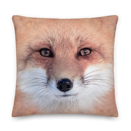 22×22 Red Fox Square Premium Pillow by Design Express