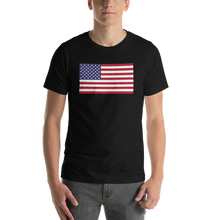 "Black / S United States Flag ""Solo"" Short-Sleeve Unisex T-Shirt by Design Express"