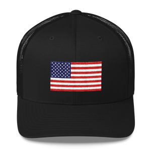 "United States Flag ""Solo"" Trucker Cap"