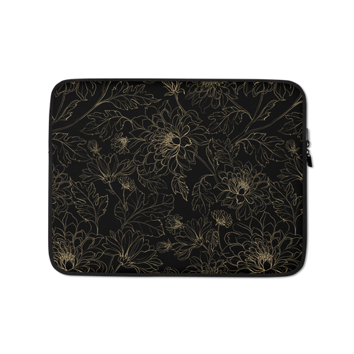 13 in Golden Floral Laptop Sleeve by Design Express