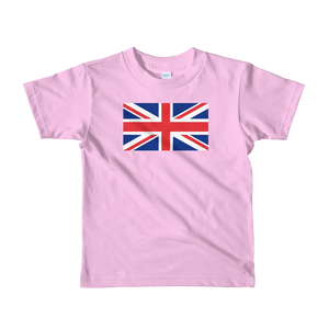 "Pink / 2yrs United Kingdom Flag ""Solo"" Short sleeve kids t-shirt by Design Express"