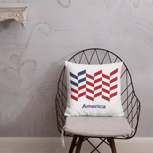 "Default Title America ""Barley"" Square Premium Pillow by Design Express"