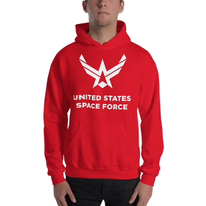 "Red / S United States Space Force ""Reverse"" Hooded Sweatshirt by Design Express"