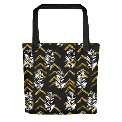 Default Title Tropical Leaves Pattern Tote bag by Design Express
