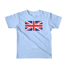 "Baby Blue / 2yrs United Kingdom Flag ""Solo"" Short sleeve kids t-shirt by Design Express"