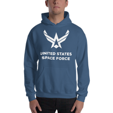 "Indigo Blue / S United States Space Force ""Reverse"" Hooded Sweatshirt by Design Express"