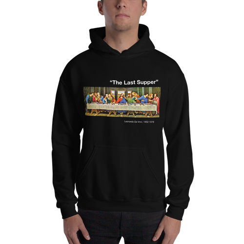 S The Last Supper Unisex Black Hoodie by Design Express