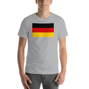 Silver / S Germany Flag Short-Sleeve Unisex T-Shirt by Design Express
