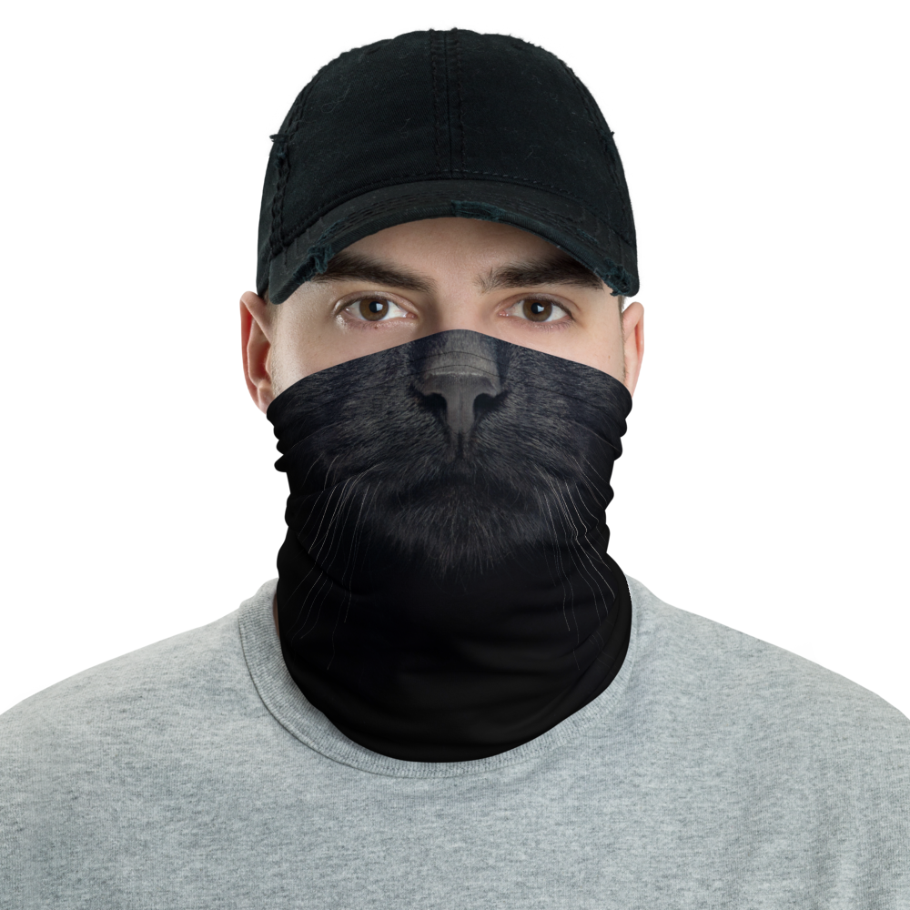 Default Title Black Cat Neck Gaiter Masks by Design Express