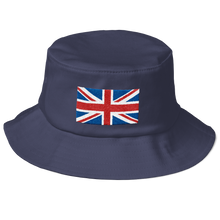 "Navy United Kingdom Flag ""Solo"" Old School Bucket Hat by Design Express"