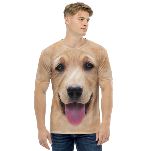 XS Yellow Labrador Dog Men's T-shirt by Design Express