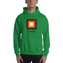 "Irish Green / S Germany ""Frame"" Hooded Sweatshirt by Design Express"