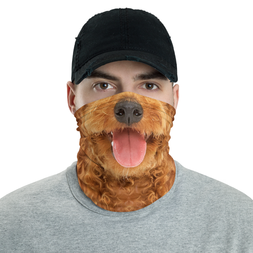 Default Title Poodle Dog Neck Gaiter Masks by Design Express