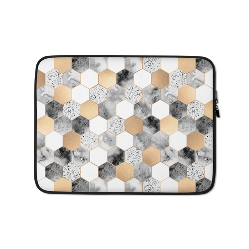13 in Hexagonal Pattern Laptop Sleeve by Design Express