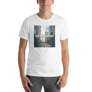 White / XS Chicago Unisex T-Shirt by Design Express