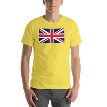 "Yellow / S United Kingdom Flag ""Solo"" Short-Sleeve Unisex T-Shirt by Design Express"