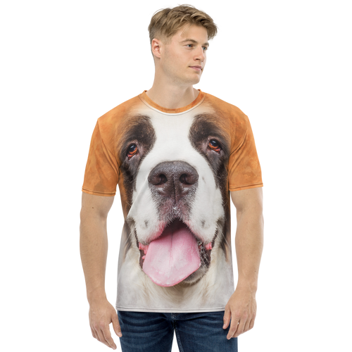 XS Saint Bernard Dog Men's T-shirt by Design Express