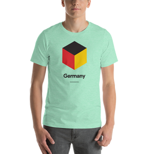 "Heather Mint / S Germany ""Cubist"" Unisex T-Shirt by Design Express"