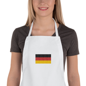 "White Germany Flag ""Solo"" Embroidered Apron by Design Express"