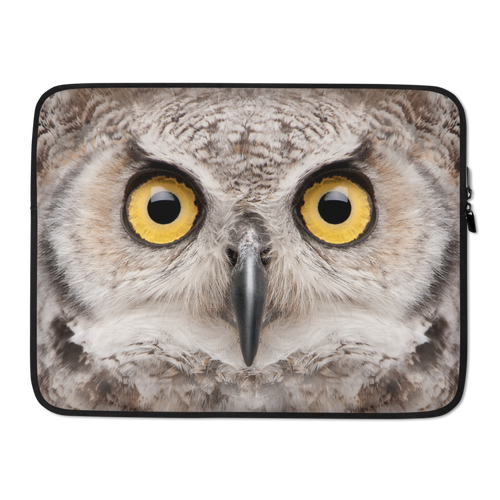 15 in Great Horned Owl Laptop Sleeve by Design Express
