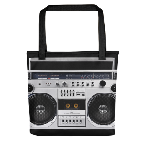 Default Title Boom Box 80s Tote bag by Design Express