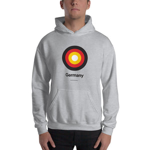 "Sport Grey / S Germany ""Target"" Hooded Sweatshirt by Design Express"