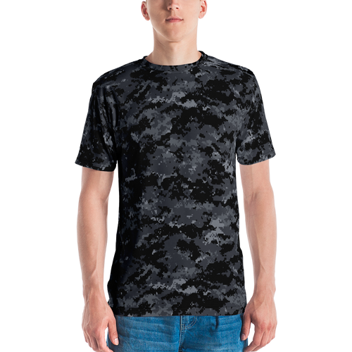 XS Dark Grey Digital Camouflage Men's T-shirt by Design Express