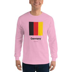 "Light Pink / S Germany ""Block"" Long Sleeve T-Shirt by Design Express"