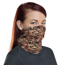 Brown Camo Neck Gaiter Masks by Design Express