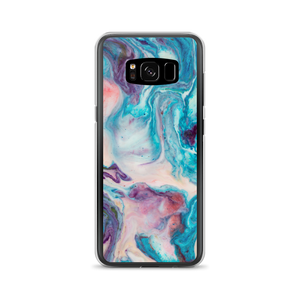 Samsung Galaxy S8 Blue Multicolor Marble Samsung Case by Design Express