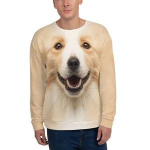 "XS Border Collie ""All Over Animal"" Unisex Sweatshirt by Design Express"