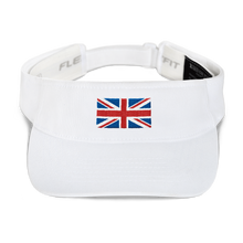 "White United Kingdom Flag ""Solo"" Visor by Design Express"